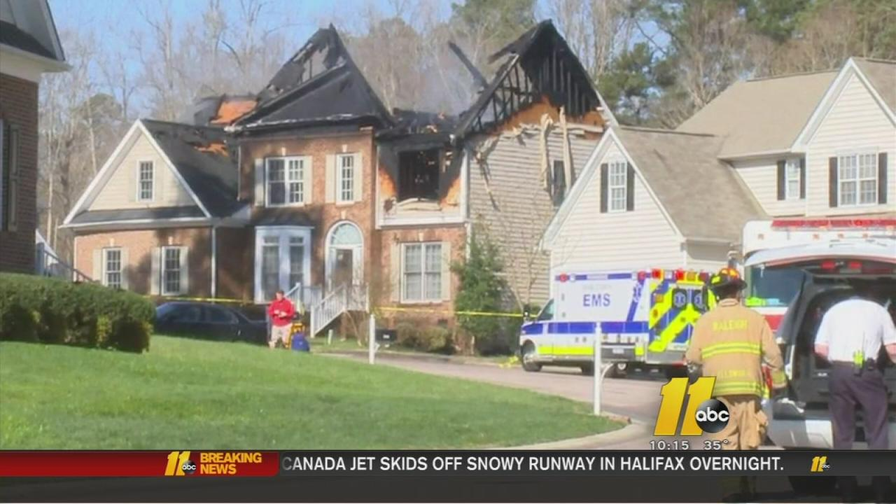 Fire tears through Raleigh home
