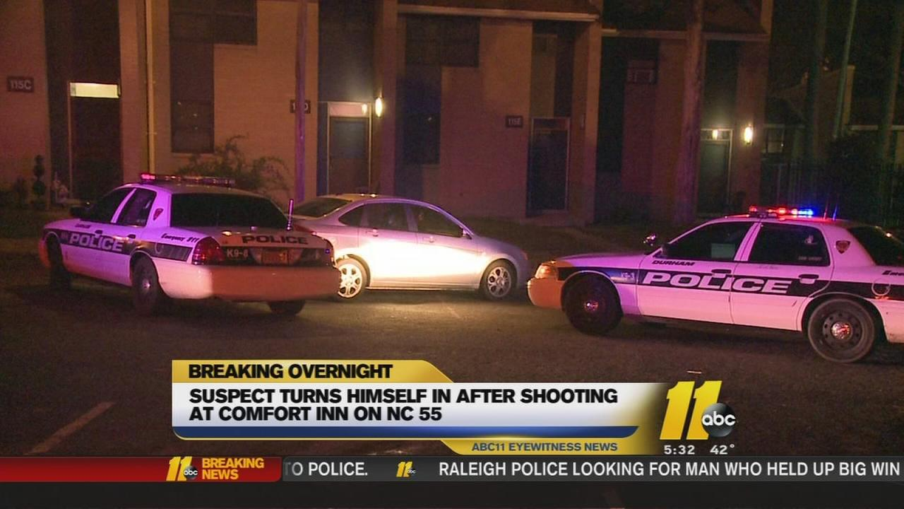 Suspect arrested in Durham hotel shooting