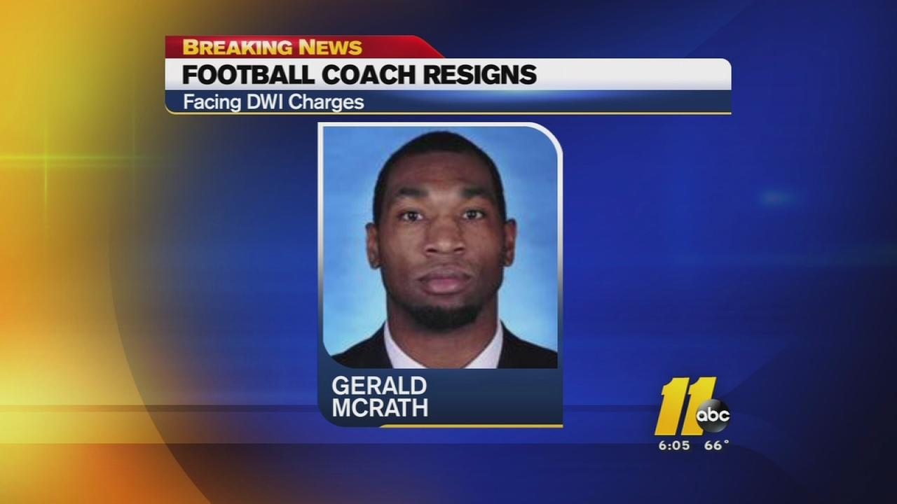 UNC assistant football coach resigns -- Gerald McRath