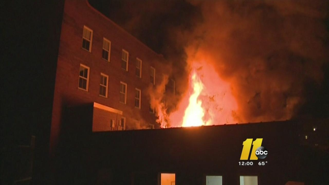 Fire damages historic Durham building for second time