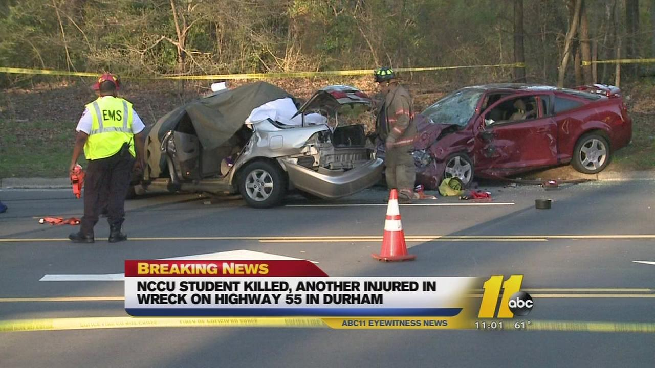 NCCU senior killed in Durham crash