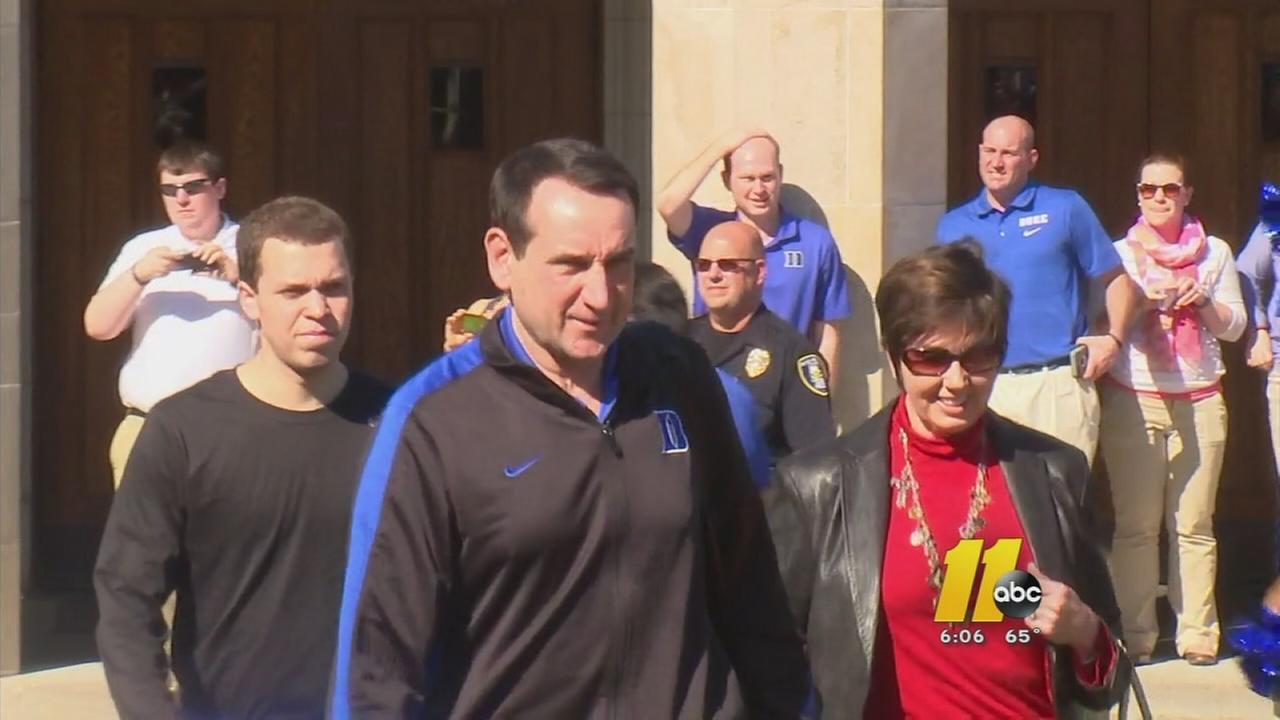 Duke leaves for Final Four game