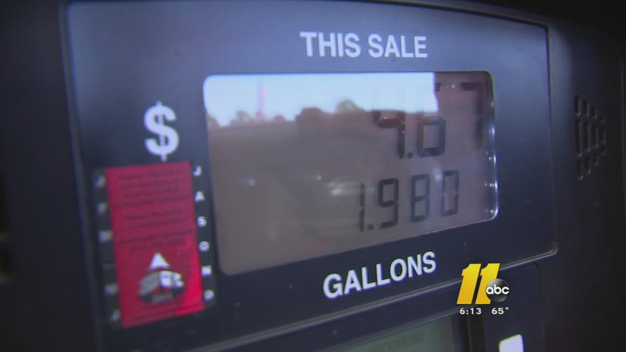 Price at pump may fall slightly in North Carolina