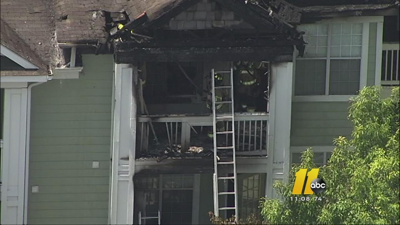 Morrisville apartments damaged by fire