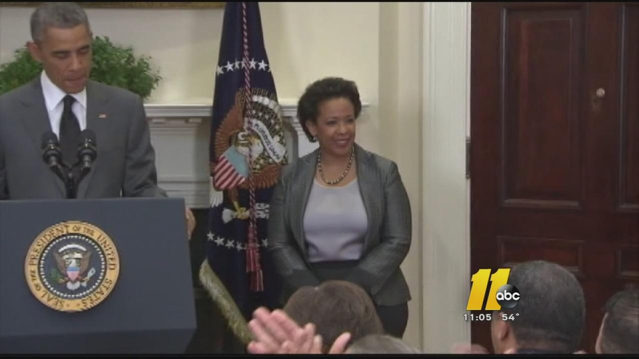 Activists call for a vote for Loretta Lynch