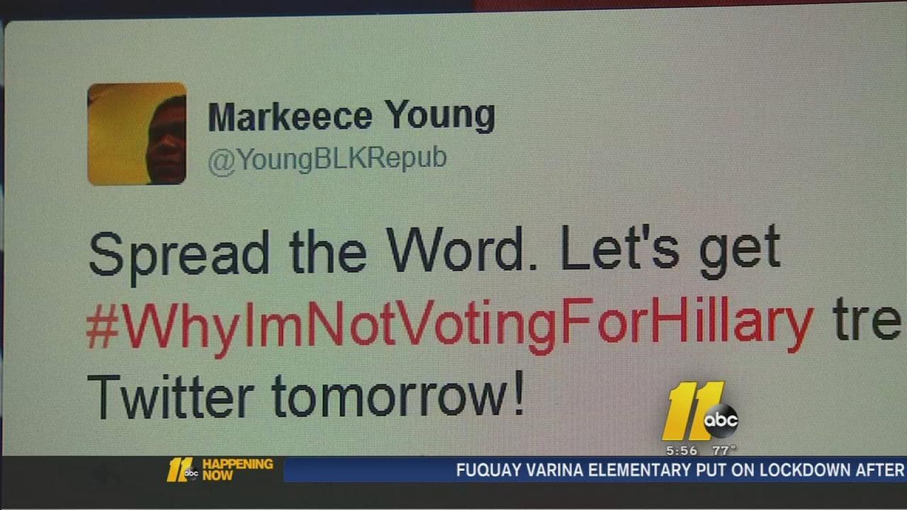 Local man creates political waves with anti-Hillary hashtag