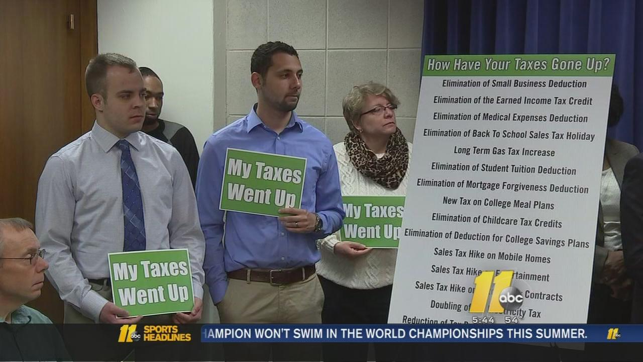 Taxes went up protest