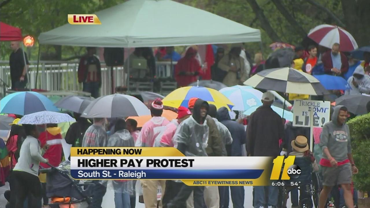 Higher pay protest at Shaw University