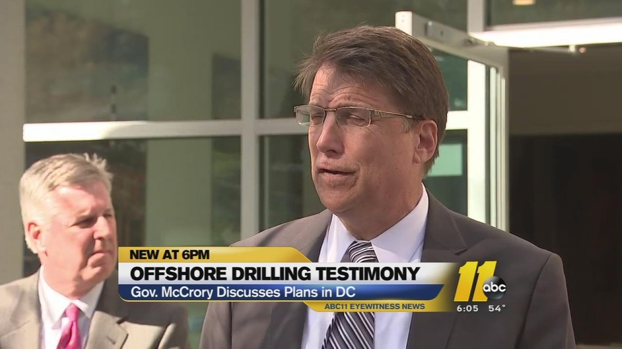 Gov. McCrory backs offshore drilling