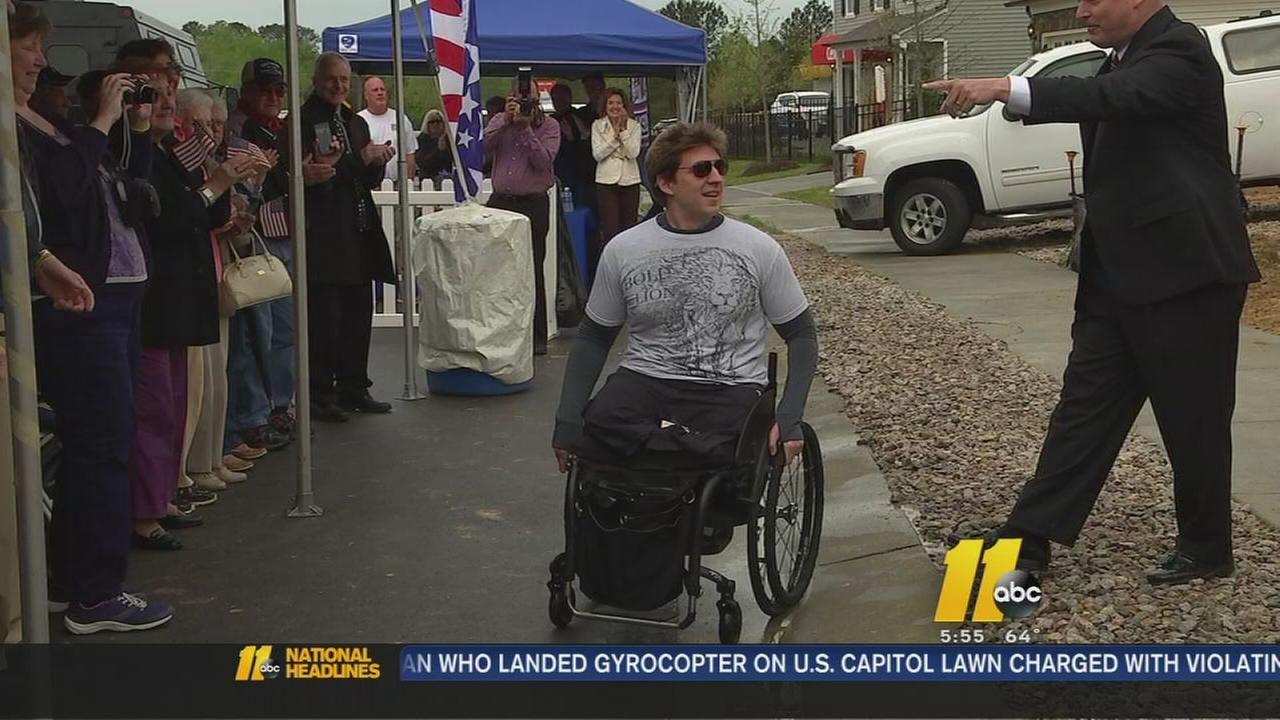 Wounded warrior gets new home in Raleigh