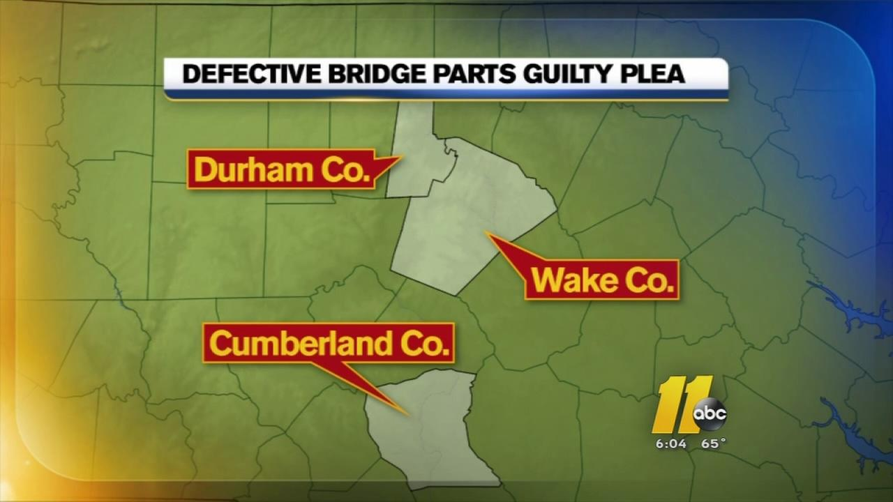 Man pleads guilty after supplying NC with bad bridge parts