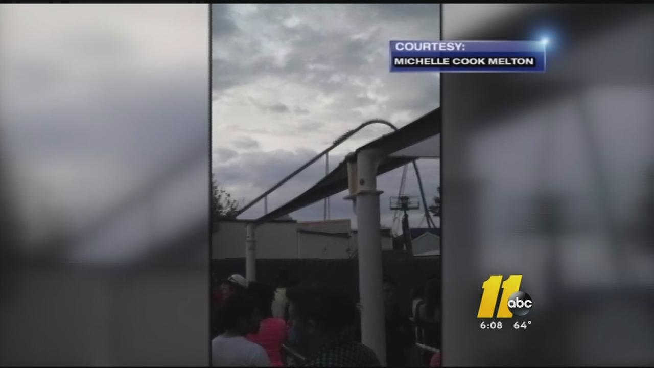 Riders stuck on Carowinds coaster