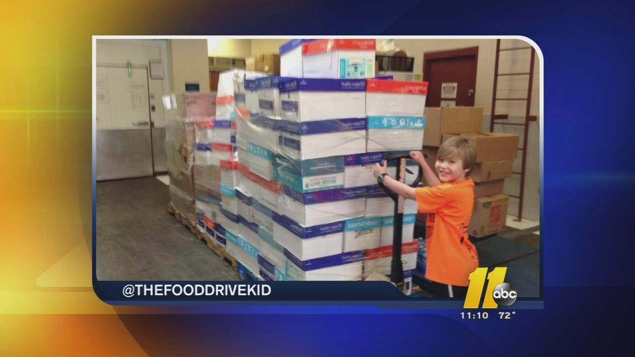 Food Drive Kid raises big bucks