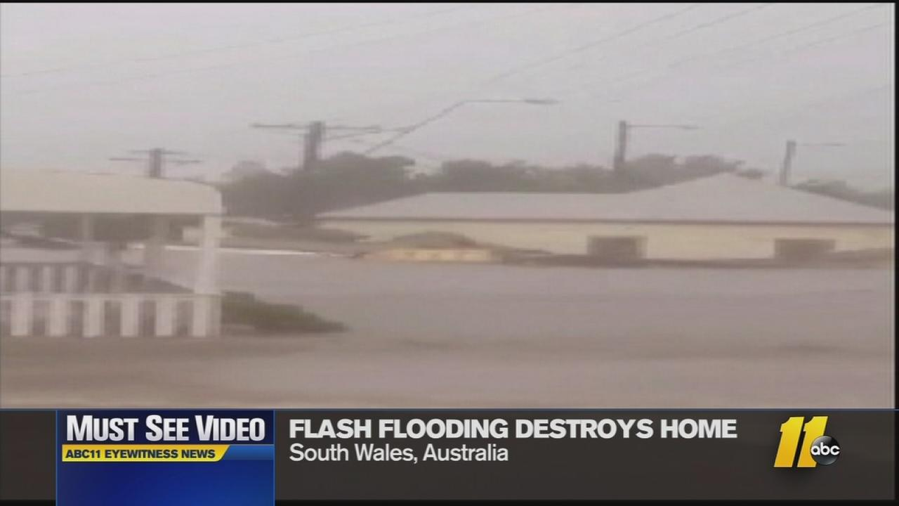 Must See Videos: House washed away by flood