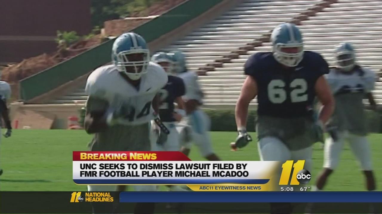 UNC seeks to dismiss lawsuit by McAdoo