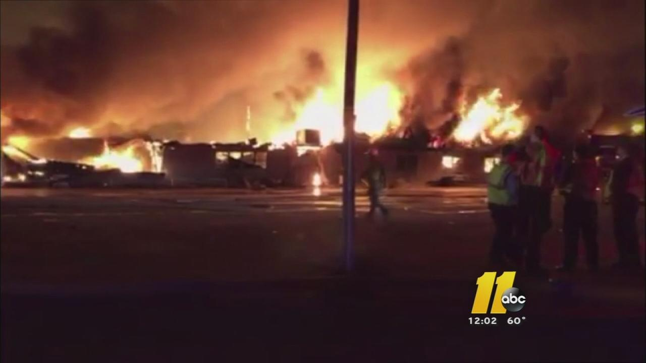 Massive warehouse fire in Lillington
