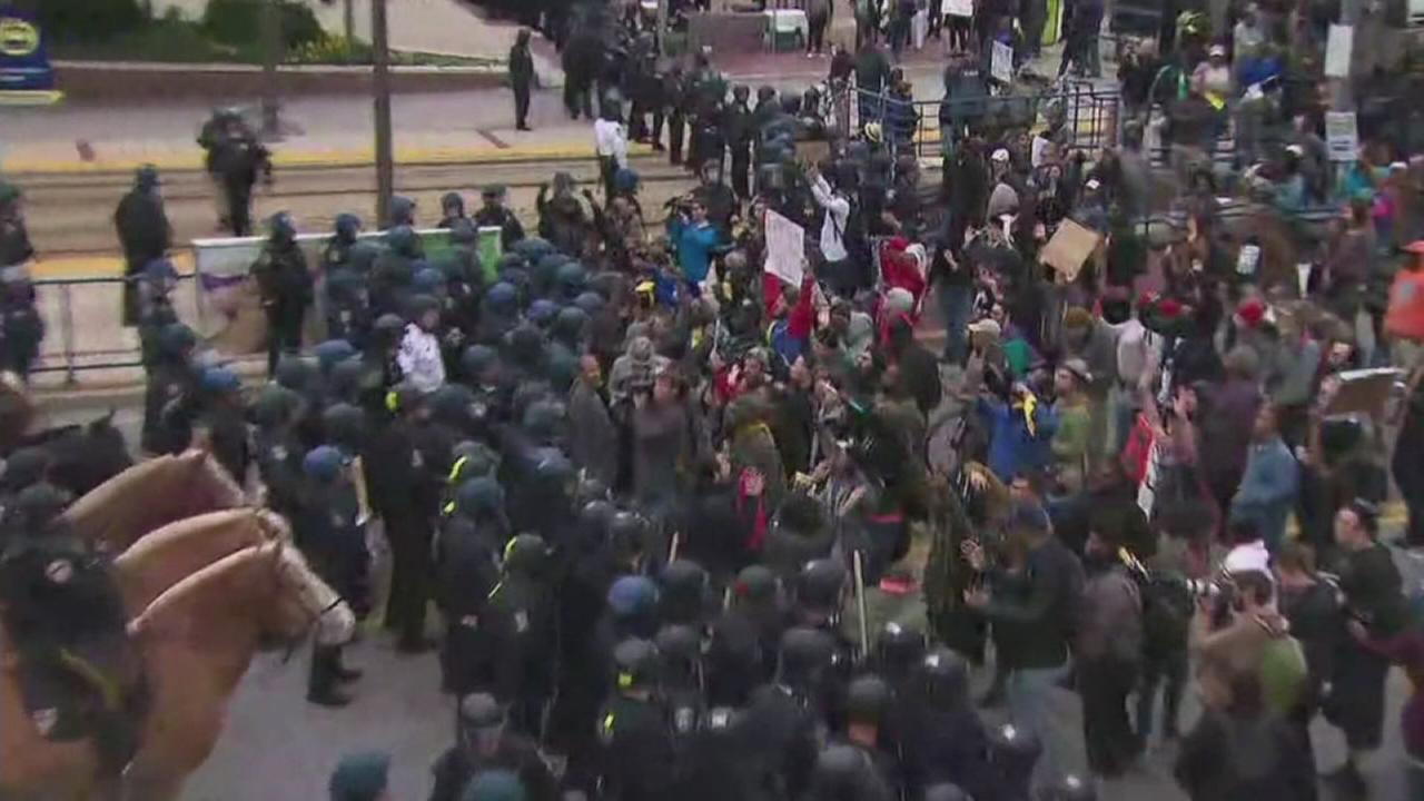 Thousands protest in Baltimore