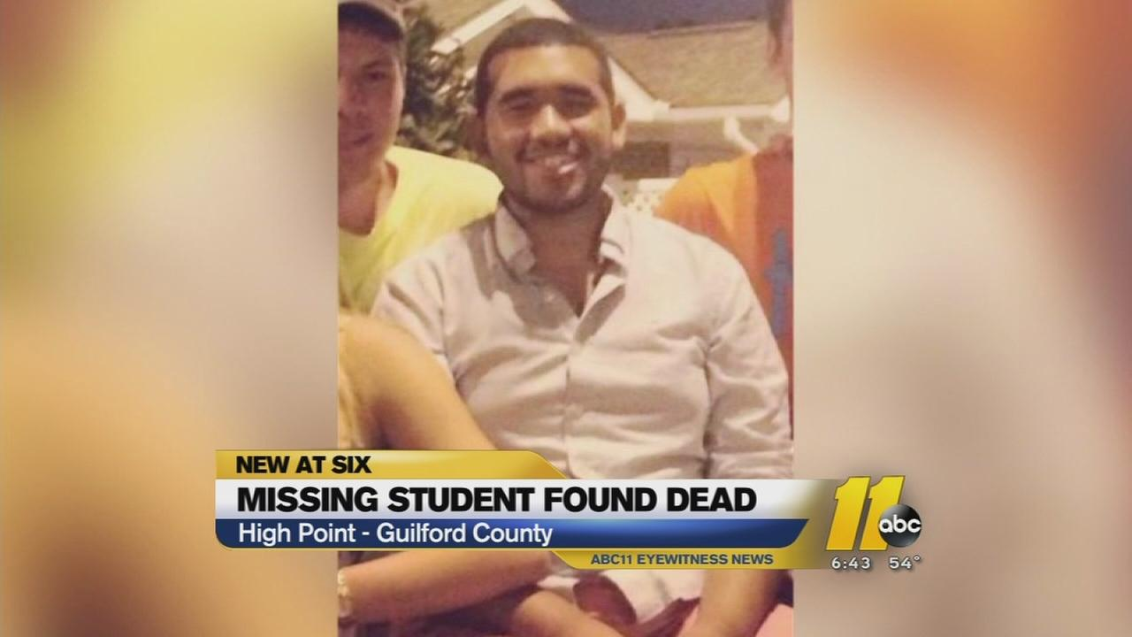 Missing student found dead