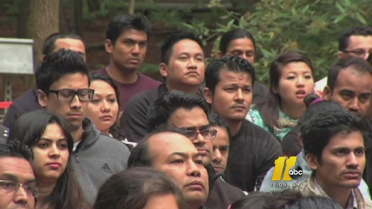 Dozens attend vigil for Nepal victims