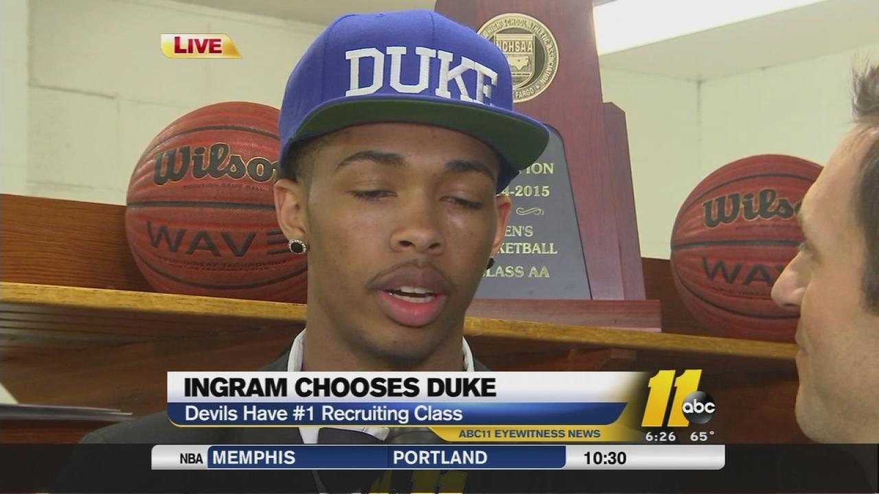 Kinstons Brandon Ingram chooses Duke