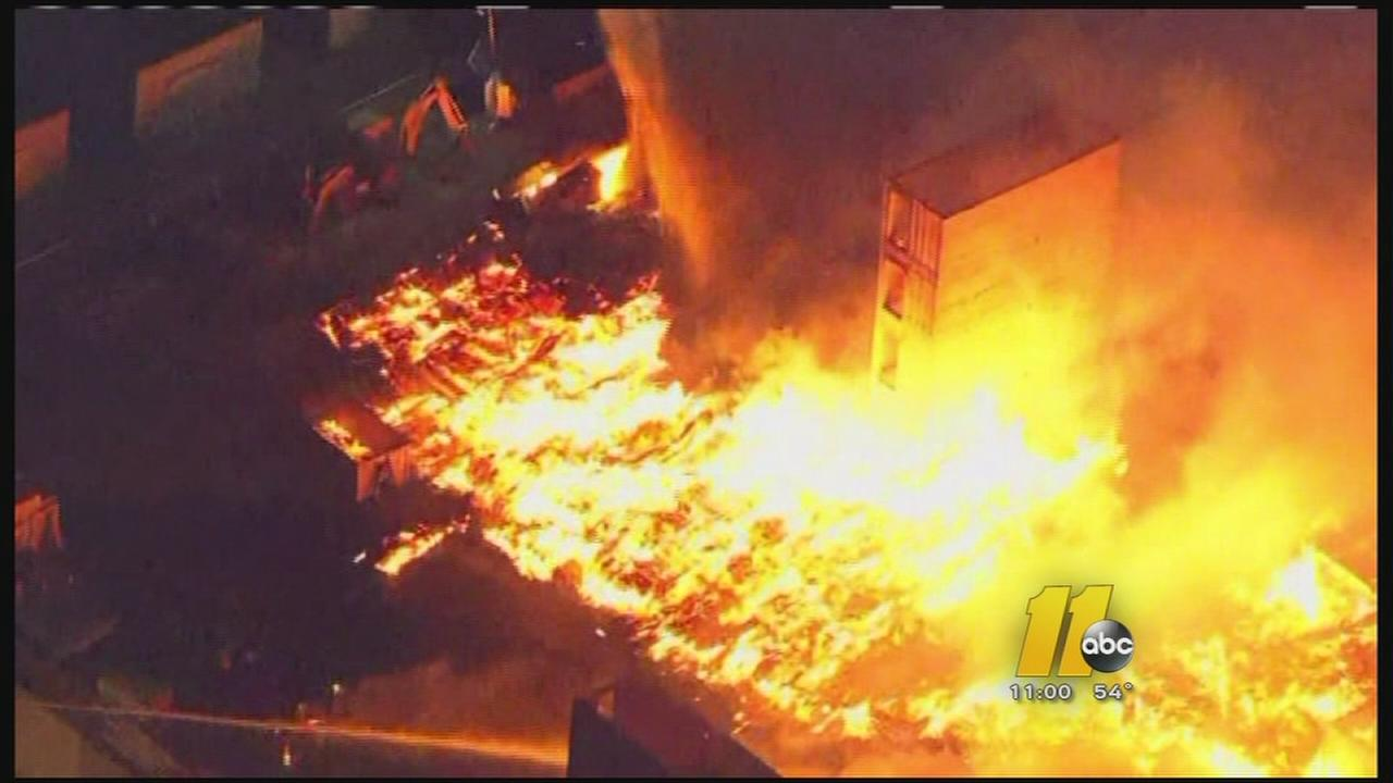 Officials: Massive fire related to Baltimore riots