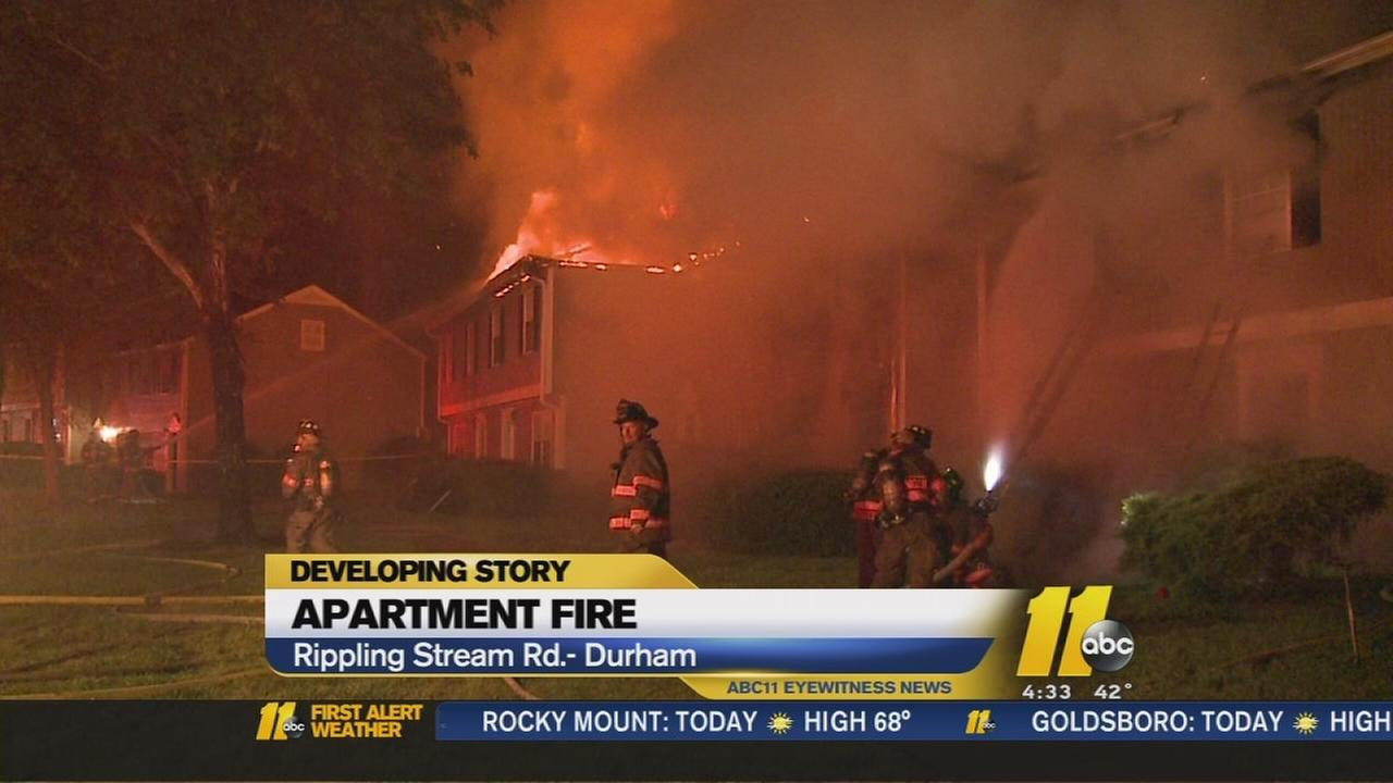 Residents displaced after fire at Durham apartment building