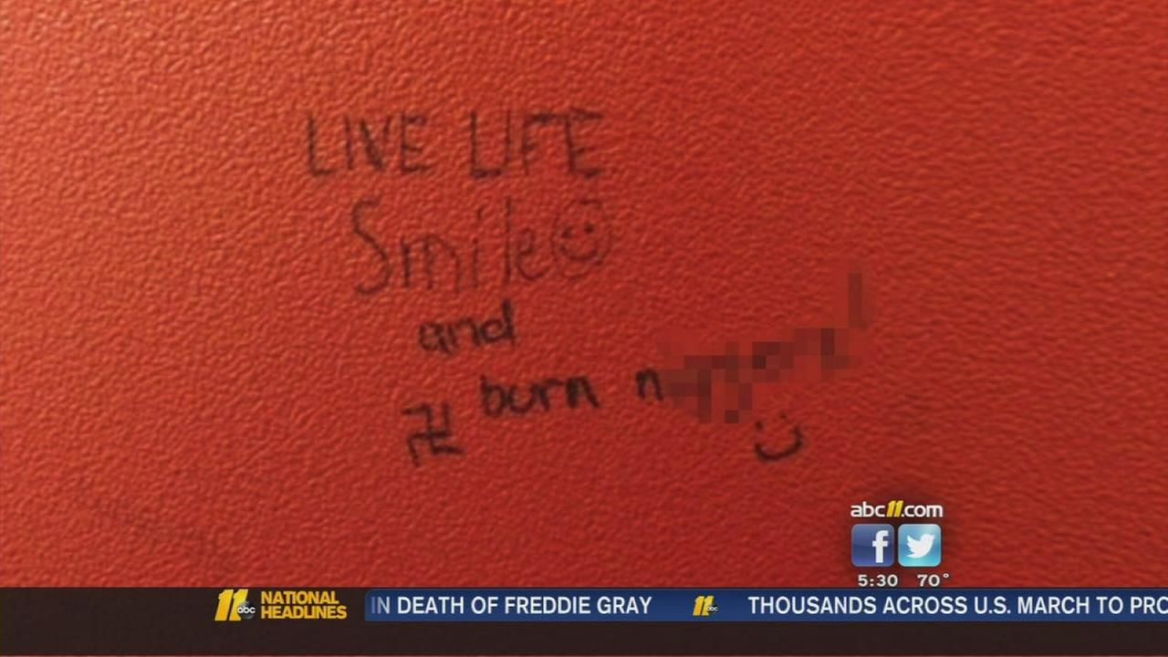 Hate message left in bathroom