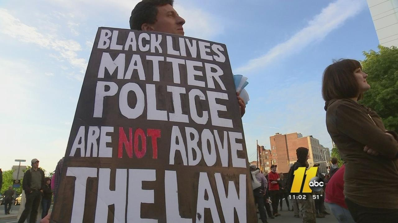 Durham activists hold mostly peaceful solidarity protest with Baltimore