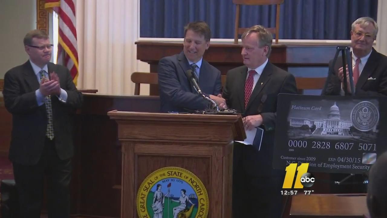 McCrory says NCs unemployment insurance debt paid off
