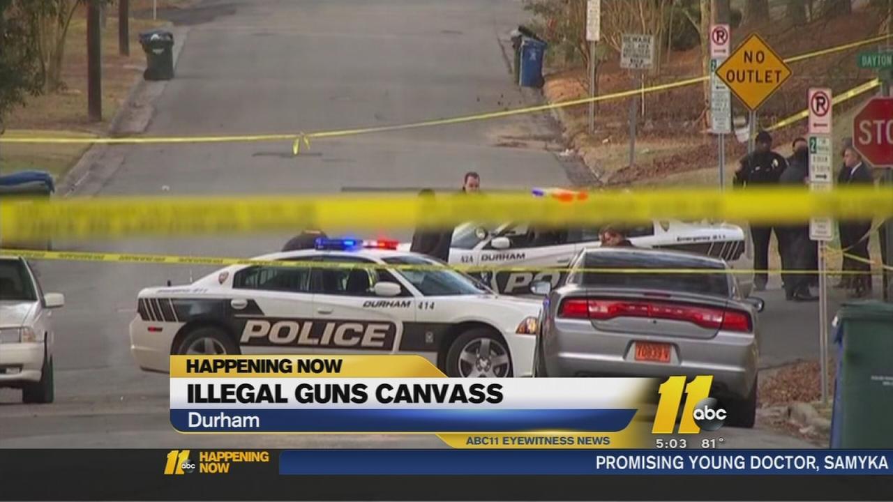 Illegal gun canvass in Durham