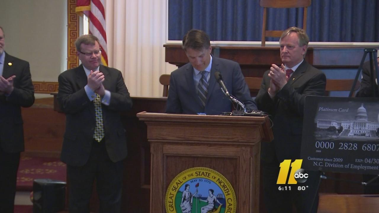 McCrory: NCs unemployment insurance debt paid off