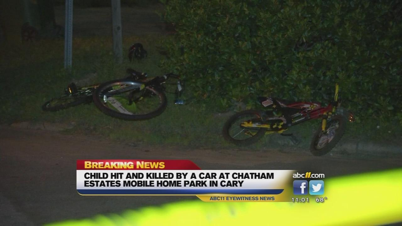 Child struck, killed by SUV at Cary mobile home park