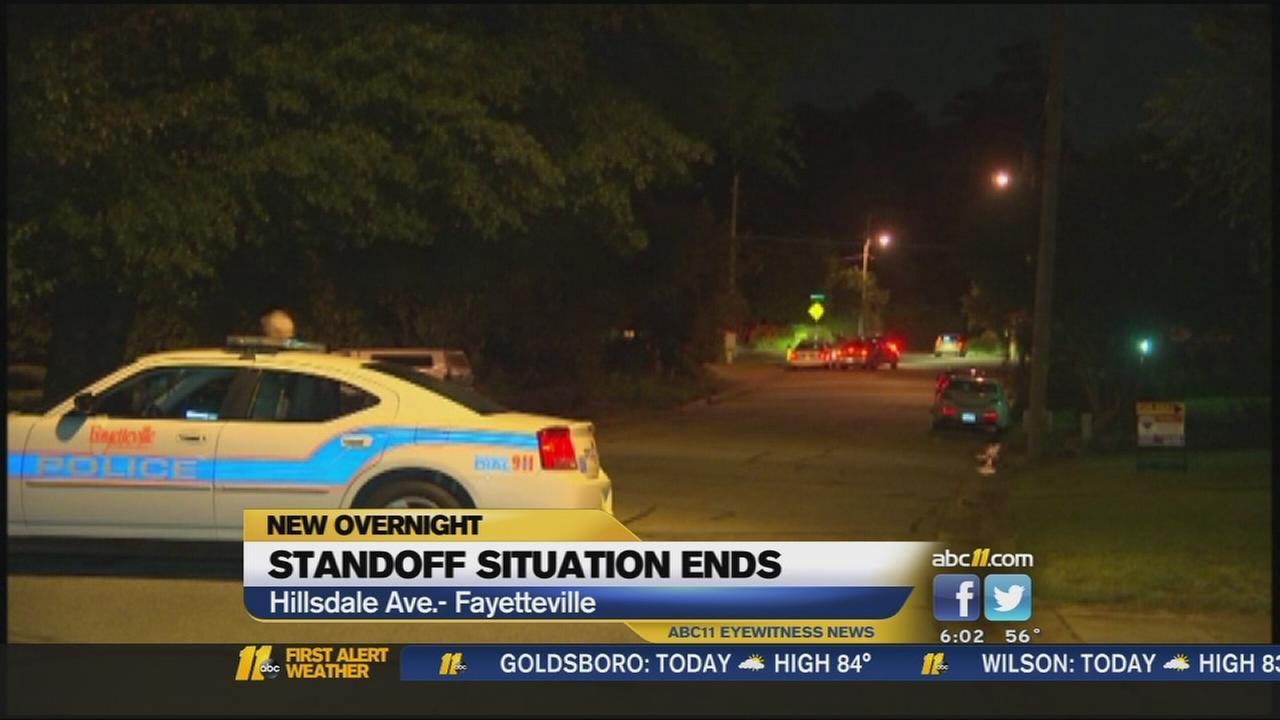 Fayetteville standoff ends