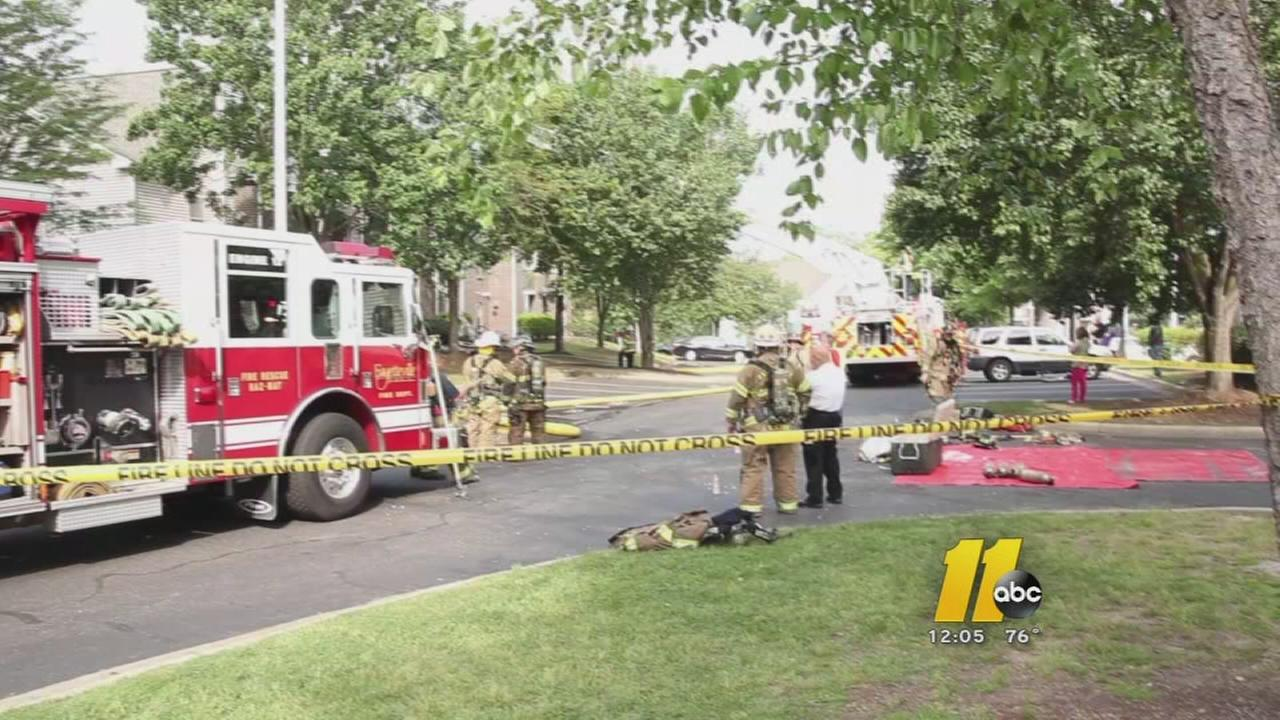 Firefighters battle flames at Fayetteville apartment complex