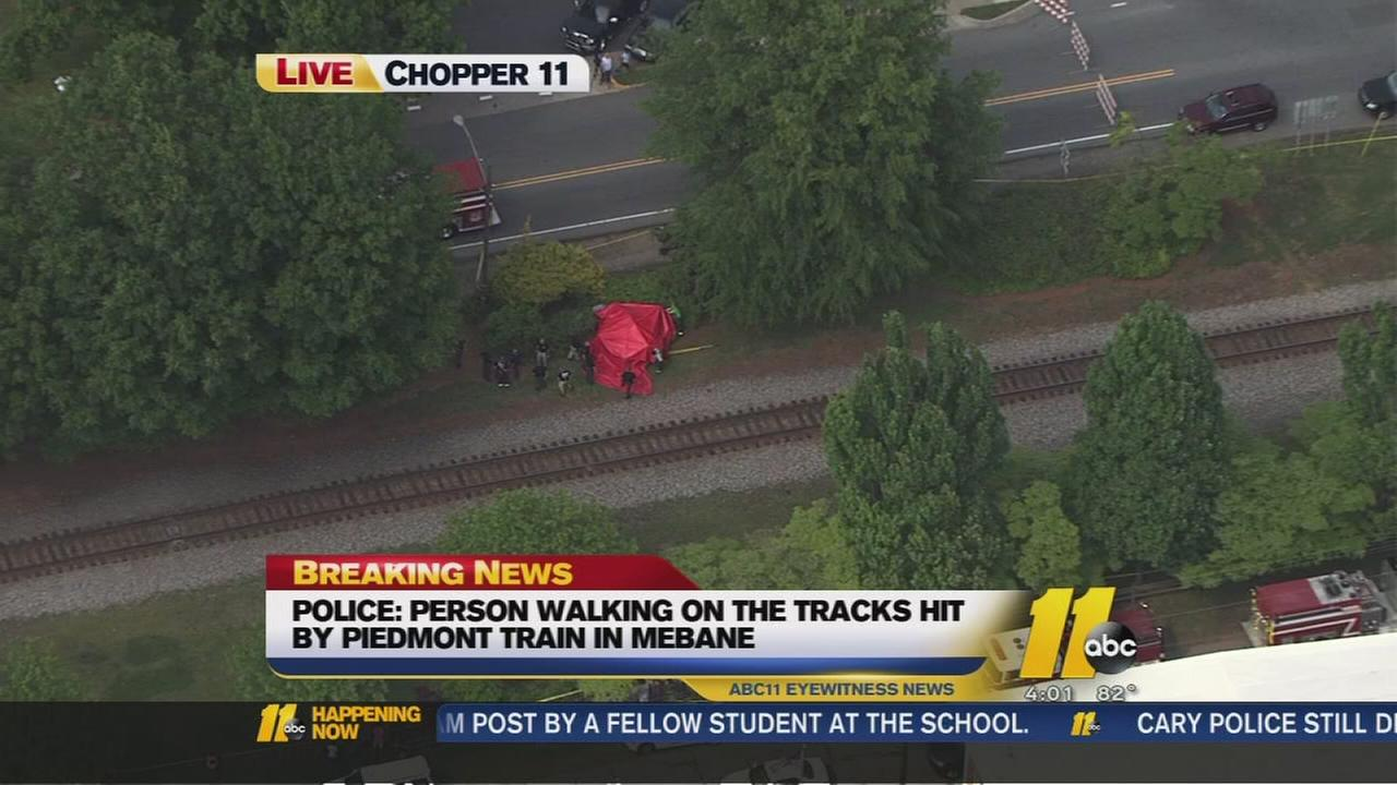 Person struck, killed by train in Mebane