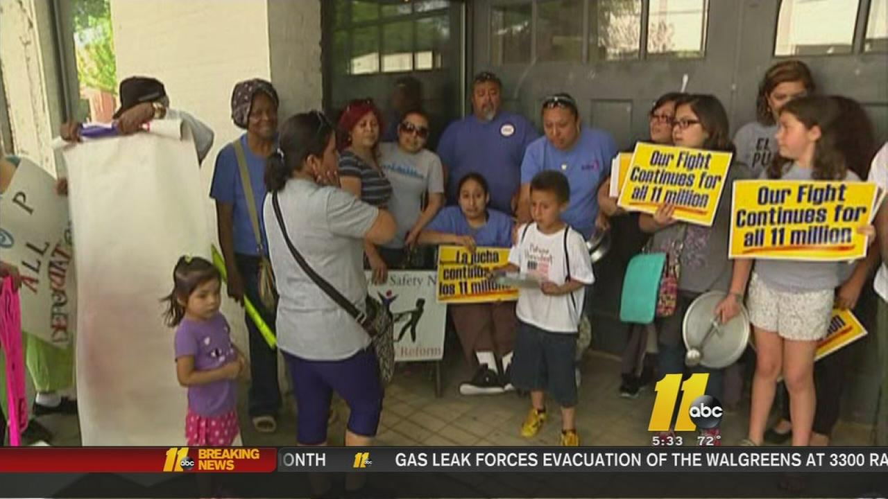Families rally in Raleigh against immigration lawsuit