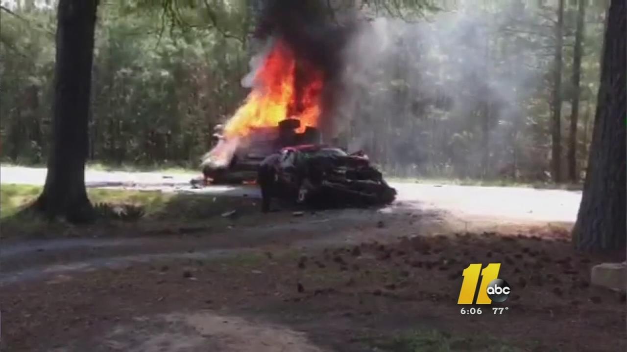 Fiery crash heroes
