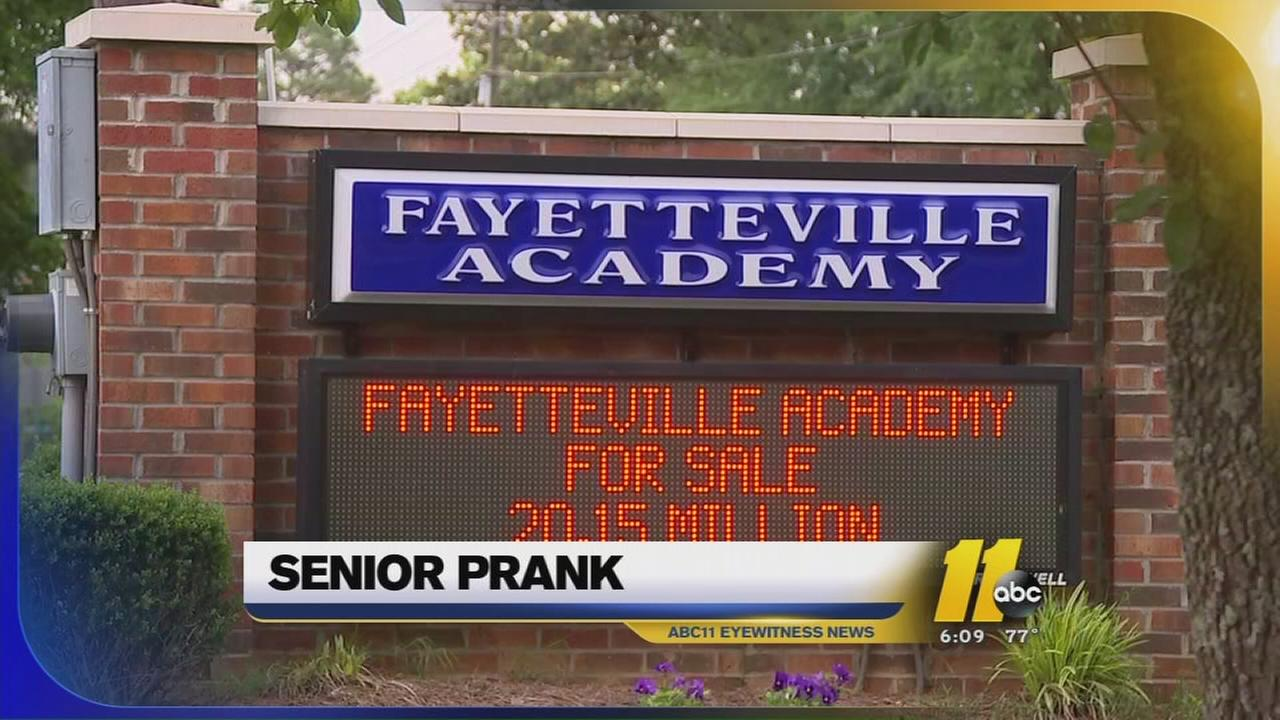 senior prank at Fayetteville Academy