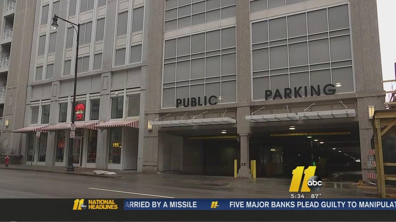 Raleigh parking fees at garages on nights and weekend