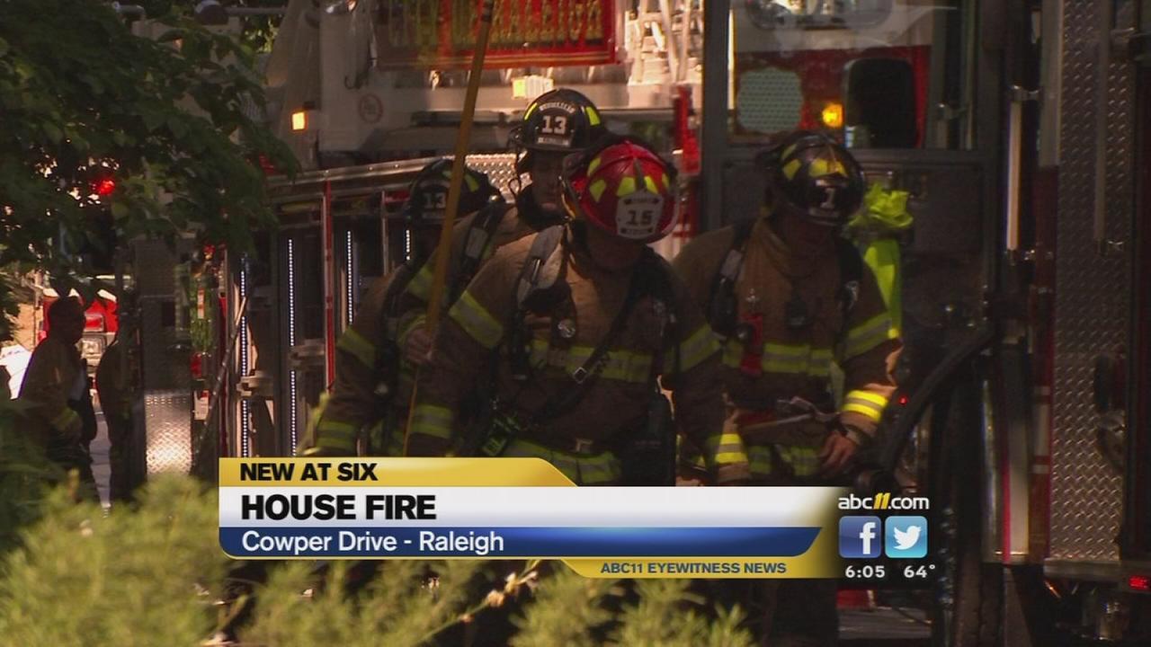 Fire tears through Raleigh home