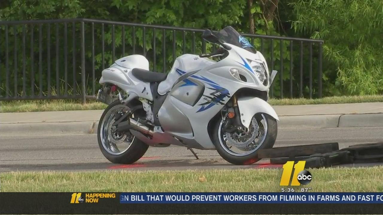 Motorcycle crash closes busy Cary road
