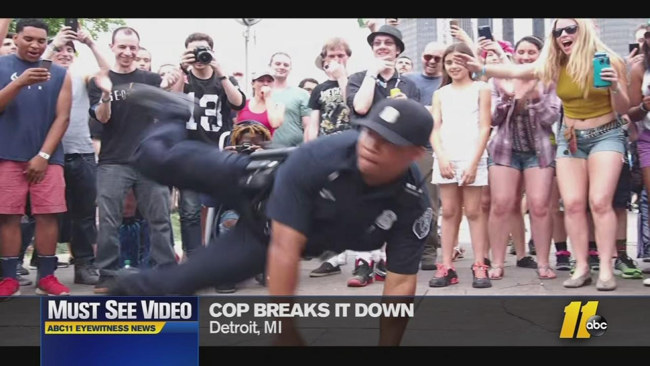 Must-See Videos: Break dancing policeman shows off his moves
