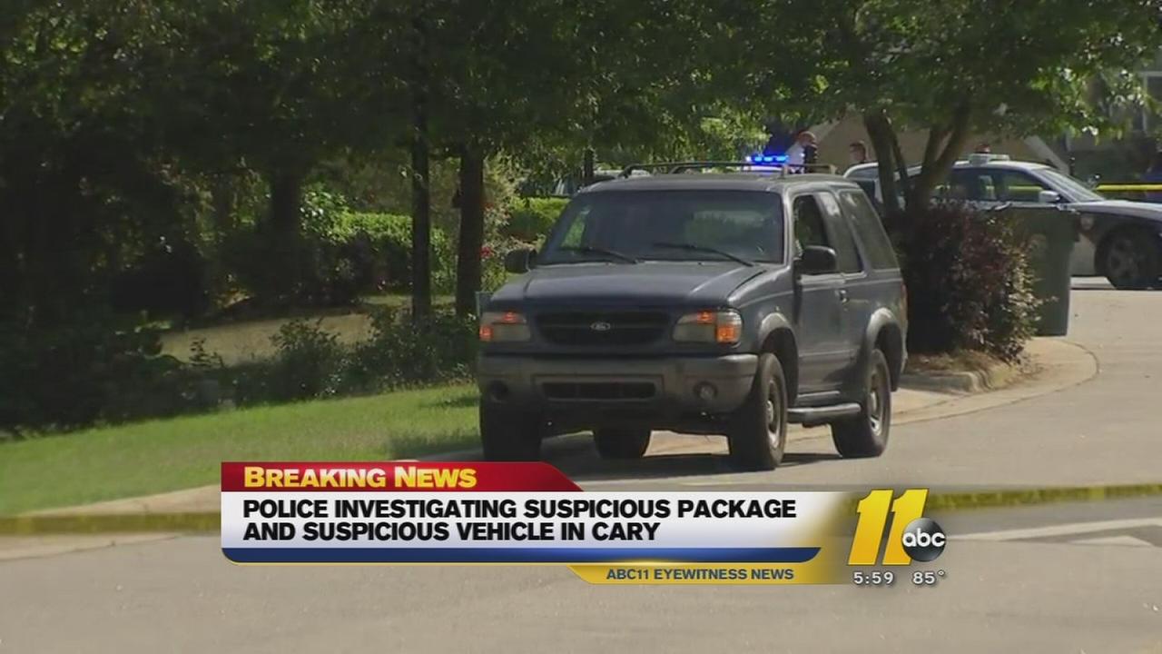 Police investigate suspicious vehicle