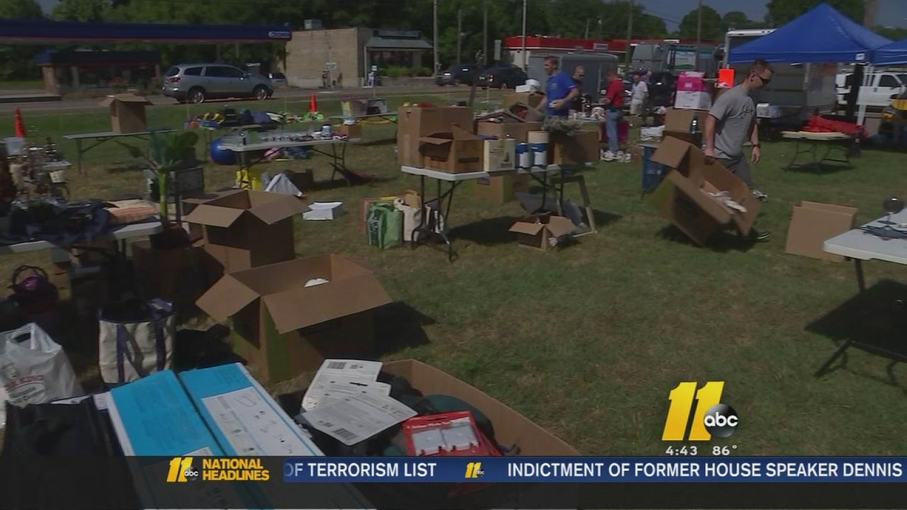 Apex PD holds charity yard sale