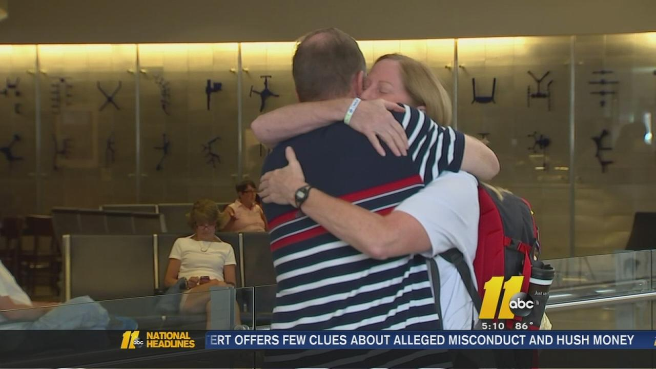 Local woman returns from Nepal