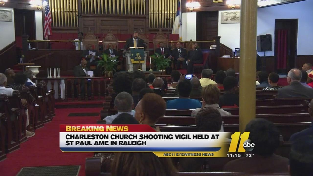 Victims of church shooting remembered at Raleigh vigil