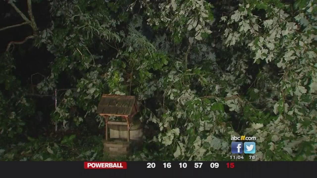 Scatted, strong storms hit northern Triangle counties