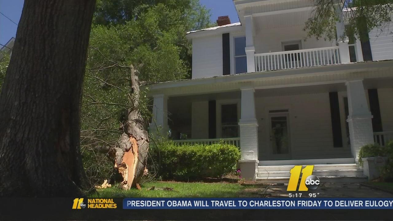 Storm damage cleanup continues in Fayetteville