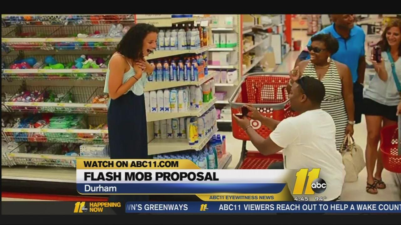 Man proposes in local Target store