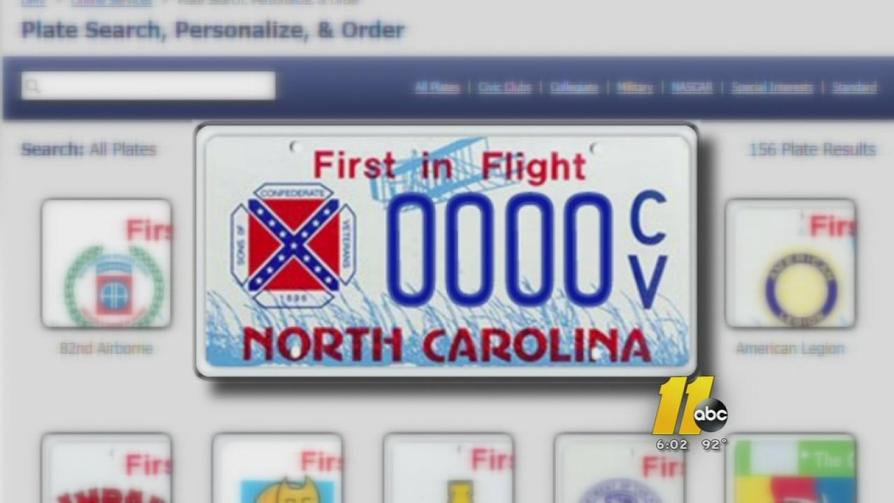 McCrory doesnt want to pull existing Confederate plates